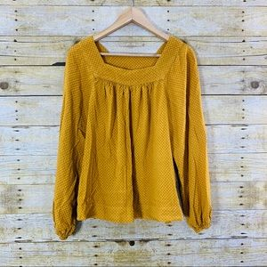 Universal Threads Shirt Mustard Long Sleeve Medium